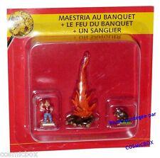 Le VILLAGE d'ASTERIX n° 24 figurine Maestria le feu sanglier figur Atlas PLASTOY