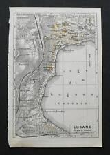 Antica Stampa=Topografica= LUGANO=Scala1:15000-1909c
