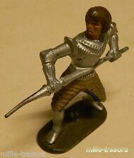 Ancienne Figurine W. GERMANY : CHEVALIER MOYEN AGE avec LANCE - Modèle 9