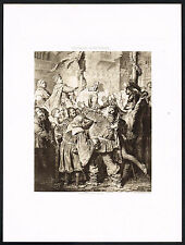 1890s Antique Shakespeare King Henry V John Falstaff Art Photogravure Print