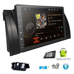 """9"""" Android 9.0 HD Autoradio Navi GPS Bluetooth DAB 4G für BMW E39 5er E53 X5+Cam"""