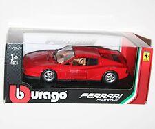 Burago-ferrari testarossa (rouge) - die cast model-échelle 1:24