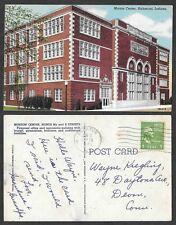 1951 Indiana Postcard - Richmond - Morton Center