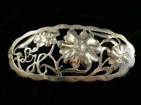 Hübsche 800 Silber Brosche Floral Jugendstil Art Deco Handarbeit Blumen Vintage