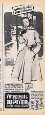PUBLICITE ADVERTISING 114 1953 JUPILER vêtements de pluie
