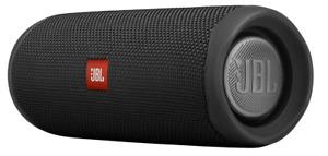 JBL Flip 5 Bluetooth Box in Schwarz – Wasserdichter, portabler Lautsprecher mit