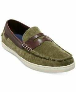 Cole Haan Pinch Weekender Green Mens Size 10.5M Loafers & Slip Ons Olive Shoes