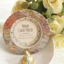 Map Picture Photo Frame Wedding Party Christmas Round Table Place Card Decor
