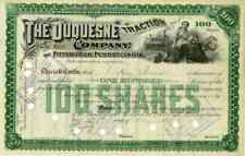 1891 Duquesne Traction Stock Certificate