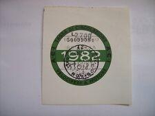BOLLO 1982 VELOCIPEDI A MOTORE ACI AUTO D'EPOCA TASSA CIRCOLAZIONE (m26-1-28 )