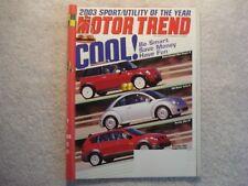 Motor Trend 2002 December Mini Cooper S Vw Turbo Pontiac Vibe GT Accord Mercedes