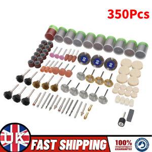 350pc Dremel Rotary Tool Accessories Kit Grinding Polishing Shank Craft Bits