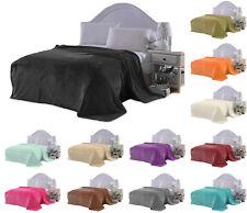 Faux Fur Mink Fleece Throw Warm Soft Sofa Blanket Single Double King Size Bed