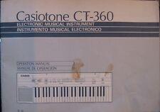 Casio CT-360 Casiotone Keyboard Original User's Operating Owner's Manual Booklet