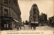 CPA Bois-Colombes - Place Centrale et Avenue Gambetta (274450)
