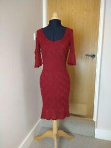 Population POP Jumper Dress Size M Red layered