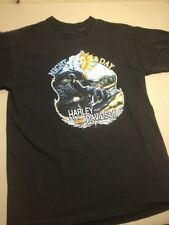 HARLEY-DAVIDSON Night and Day T-Shirt Mankato Mn Grand Opening Large Holoubek