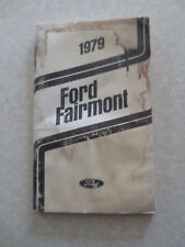 Original 1979 Ford Fairmont car owner's manual