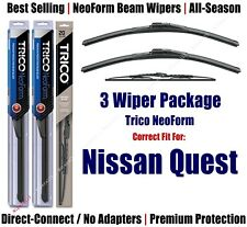 3-Pack Wipers Front & Rear - NeoForm - fit 1993-2002 Nissan Quest 16220x2/30130