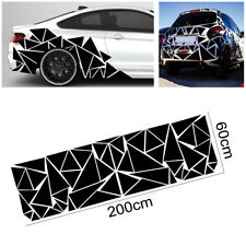 1Pcs Glossy Black Freestanding Triangle Graphics Decal Sticker For Car Side Body