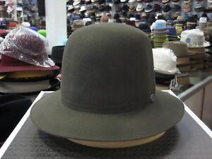 BORSALINO DARK GREY OPEN CROWN FUR FELT DRESS HAT (READ DESCRIPTION FOR SIZE)