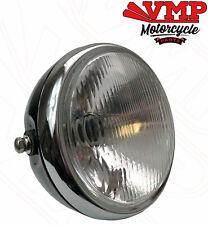 Black Shell White Lens EBTOOLS 12V Headlight Motorcycle,Universal Motorcycle Retro Shell Grill Cover Headlamp Front Headlight for CG125 GN125