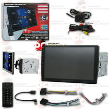 "Power Acoustik 2Din Bluetooth Stereo W/ 10.6"" Lcd Black Keyhole Backup Camera"