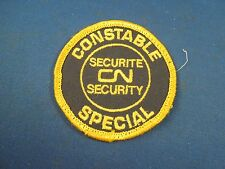 Vintage Constable Special Security Securite CN Canada Embroidered Sew On Patch
