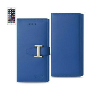 For iPhone 6/6S Case Leather Wallet Belt Cover RFID Card Protection Ultramarine