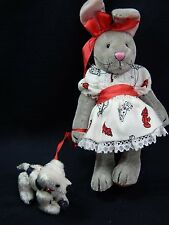 "World of Miniature Bears 4.5"" Plush Rabbit Lopsy #687 Collectible Rabbit"