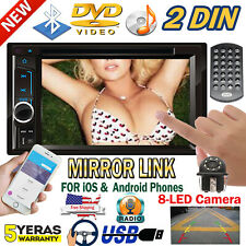 Car DVD CD Player Radio Stereo In Dash Mirrorlink for GPS Hands Free Call 2 DIN