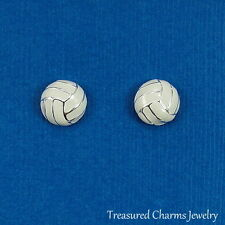 Volleyball Earrings - Silver Post Stud Earrings - Sports Jewelry Gift NEW