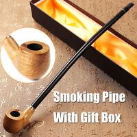 40cm Holzpfeifen Lang Tabakpfeife Geschenk Tabakspfeife Smoking Pipe mit Box !