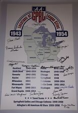 LEAGUE OF THEIR OWN AAGPBL SIGNED POSTER 21 JEAN FAUT WOMENS BASEBALL LEAGUE