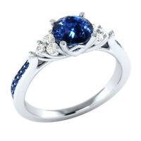 2018 Handmade Jewelry 925 Silver Plated Sapphire Stone Lady' Ring  Size 7-10 AU