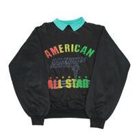80s Vintage Collared Sweatshirt   Large   Pullover Jumper Retro American USA