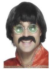 W287 Adult Mens 1970s Black Guy Wig Retro Disco Fringed Costume Accessory