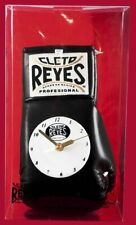 Authentic Cleto Reyes Black leather Boxing Glove Clock