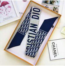 Twilly for handbags, Hair tie, Skinny Scarf, Blue (no box )