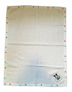 Vintage Dundee Disney Mickey Mouse Star Trim Hey Diddle Baby Blanket Acrylic USA