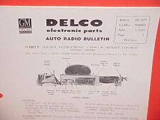 1957 CADILLAC FLEETWOOD 75 LIMOUSINE UNITED MOTORS DELCO GM RADIO SERVICE MANUAL