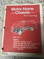 1969 1970 1971 1972 1973 Dodge Motorhome Chassis Parts Catalog Manual