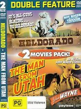 DOUBLE FEATURE - ROY ROGERS - HELDORADO + JOHN WAYNE - THE MAN FROM UTAH -  DVD