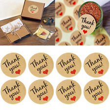 "60Pcs Seals Kraft Paper Love Heart Stickers ""Thank You""Wedding Favor Gift Label"