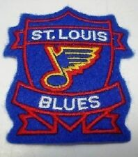 """NHL St. Louis Blues 1 1/4"""" 1987/88 to 1997/98 Logo On 3"""" Shield Iron On Patch"""