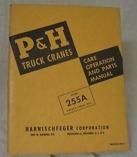 heavy equipment manuals books for p h crane for sale ebay rh ebay com Operator Manuals for Cranes p&h omega 20 ton crane manual