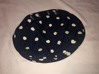 VTG Bermuda Bag Cover Mini Navy White Polka Dot Lined