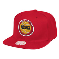 Men's Mitchell & Ness Red NBA Houston Rockets Team Ground HWC Snapback