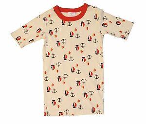 Hanna Anderson Children's Organic Cotton Nautical Sleep Shirt Sz EUR 150cm US 12