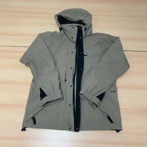 Sprayway Gore-Tex Coat Mens Large Beige Waterproof Outdoor Hooded Jacket